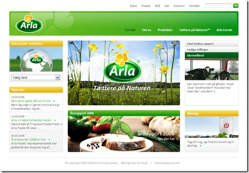 Arla Foods nye designlinie